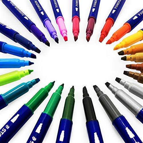Staedtler Kalligraphie-Stifte, doppelseitig, 2,00-3,5 mm, verschiedene Farben, 24 Stück