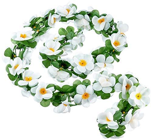 Basil Blumengirlande Flower Garland, weiß, One Size, 50182