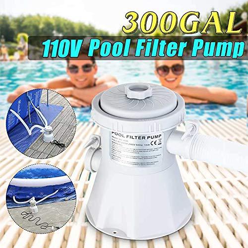 fgfh Bomba de Filtro para Piscina Filtro de Agua eléctrico para Piscina Limpiador de Agua doméstico Bomba de Filtro de Agua Filtro extraíble Bomba de circulación de núcleo
