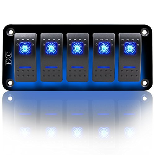 fxc rocker switch aluminum panel 2 3 4 5 6 gang toggle switches dash 5 pin