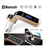 King Shine Bluetooth FM Transmitter Car G7 with Turbo Charging LCD Bluetooth Charger