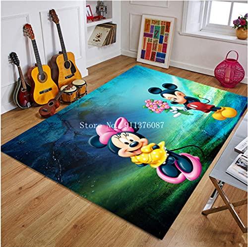 LGXINGLIyidian Alfombra De Dibujos Animados De Disney Mickey Y Minnie Mouse Tapete para Puerta Niños Niños Niñas Juego Alfombra Dormitorio Cocina Alfombra Alfombra De Baño Interior V-827M 80X150Cm
