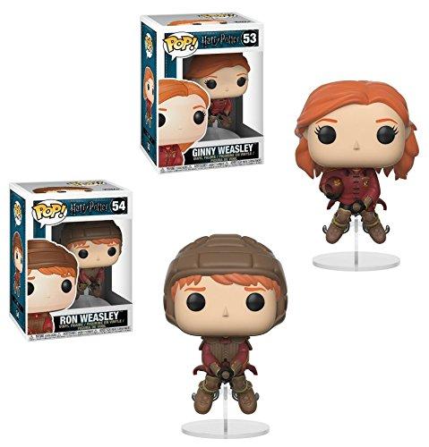 Funko POP! Harry Potter: Ginny Weasley + Ron Weasley montados en escoba