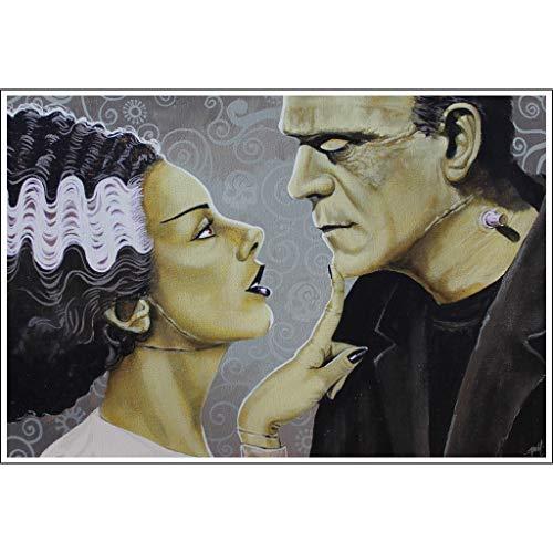 Flirtationship by Mike Bell Bride of Frankenstein Monster Love Wall Art Print