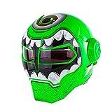 SJAPEX Personalizzata Robot Casco Apribili e Modulari, Integrali Caschi Flip-up Motocycle Helmet, per Motocross Cruiser Urbano, DOT Certificato