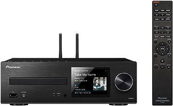 Micro syst/ème avec bo/îtiers bidirectionnels Noir B Bluetooth, radio FM, DAB+, CD, MP3 USB, t/él/écommande, minuteur et alarme Pioneer X-HM36D