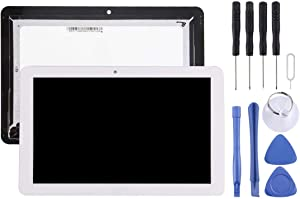 YANGJAN LCD Screen and Digitizer Full Assembly for Acer Iconia Tab 10 A3-A20 / 101-1696-04 V1 (White) (Color : White)