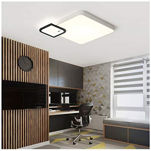 Led-plafondlamp met afstandsbediening, postmodern, minimalistisch slaapkamerlicht, sfeervol woonkamerlicht, creatieve plafondlamp, thuis restaurant, werkkamer, verlichtingslichaam 45 cm