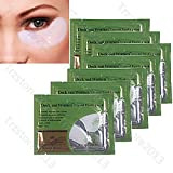 Baisidai Pack of 10/20/30/40 Pairs Collagen Crystal Eye Mask Eyelid Patch Deep Moisture Anti Wrinkle (30PCS, White)