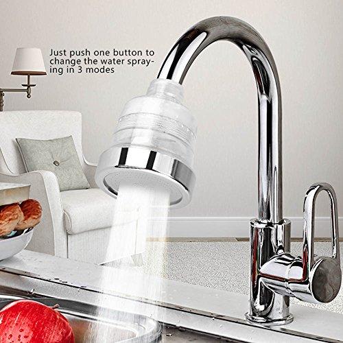 Ponacat waterbesparend mondstuk voor kraan, spatwaterdicht, accessoires voor wastafel