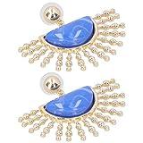 Allsor Pendiente, joyería de Moda 1 par de Pendientes de Abanico, para Citas...