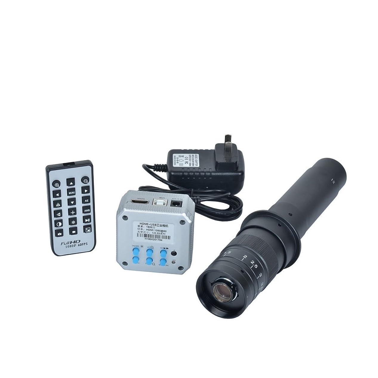 腸汚染された誇りに思う16?MP 1080p HDMI USB出力Industrial顕微鏡カメラ+ 300?X C - Mountレンズfor業界PCBラボ顕微鏡Accessoires