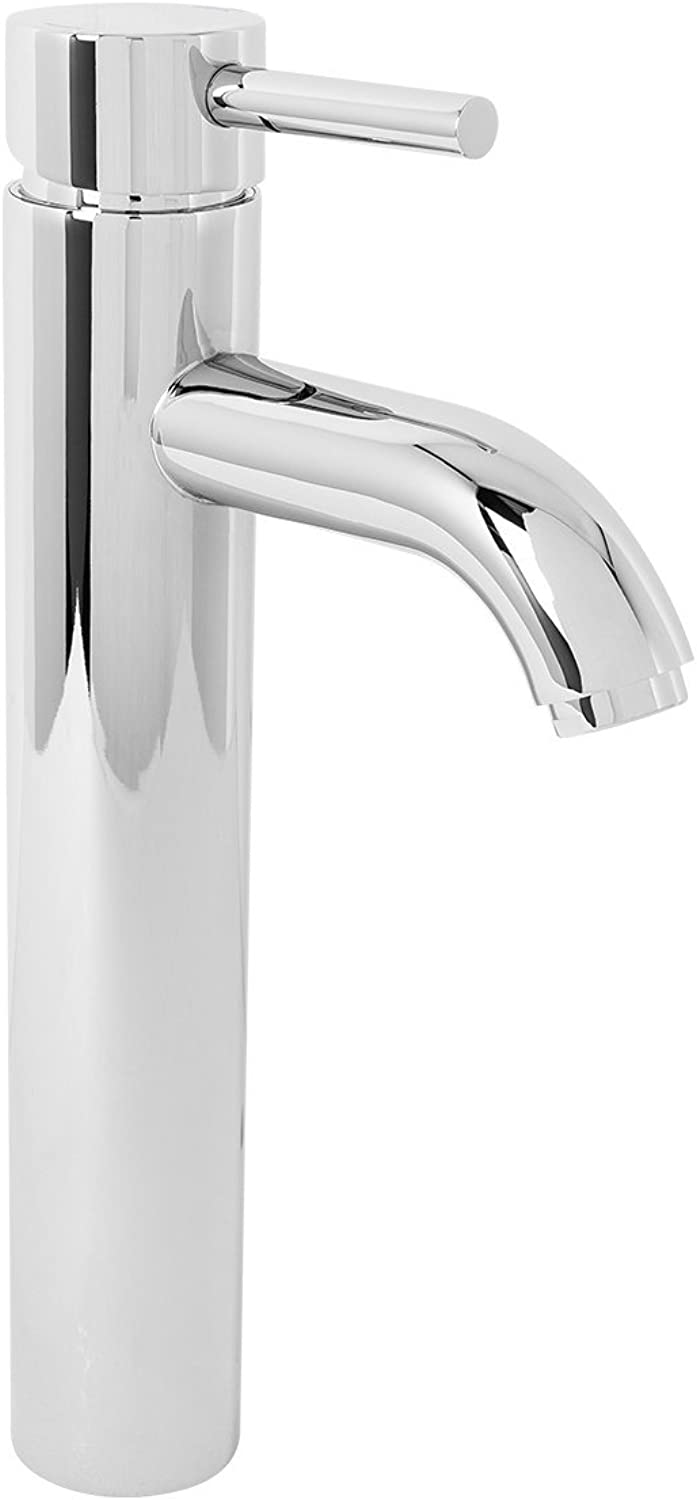 Modern Solid Brass Bathroom Chrome Finish Mono Basin Mixer Tap Sink Lever Action Faucet