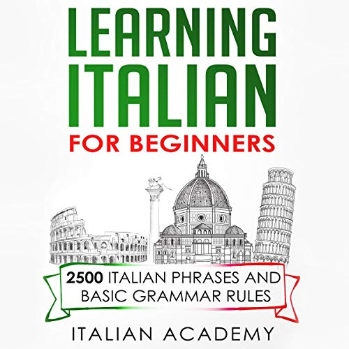 Page de couverture de Learning Italian for Beginners