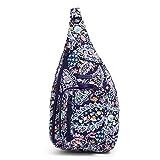 Vera Bradley Women's Signature Cotton Medium Sling Backpack, French Paisley, One Size
