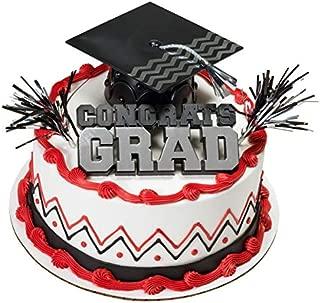 DecoPac Congrats Grad with Black Cap Graduation Cake Kit