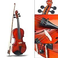 絶妙な木製1/8サイズのバイオリン木製ペイントバイオリン、4-5歳の子供に適しています。