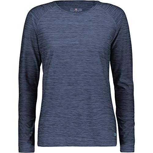 CMP T-Shirt Stretch Maniche Lunghe, Donna, Blue Mel, 50