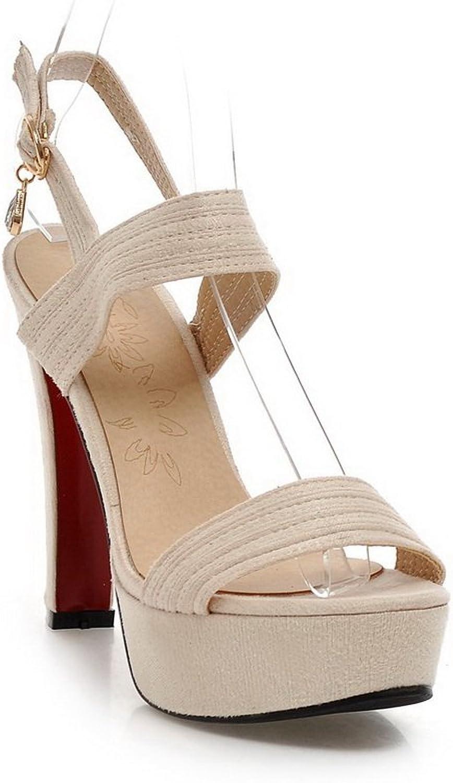 1TO9 Ladies Outdoor High-Heels Beige Polyurethane Sandals - 7.5 B(M) US