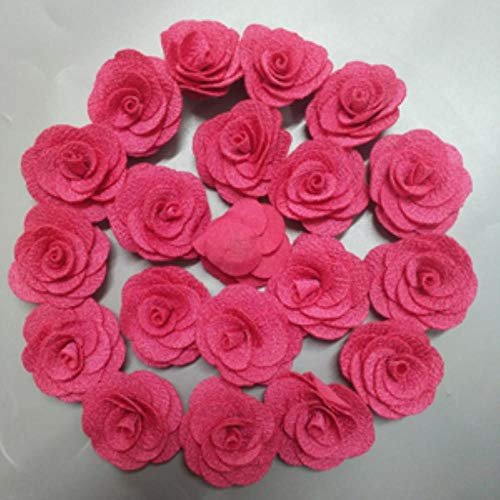 10pieces / grootte van 4 cm stof bloem haaraccessoires roze doek zakje bruiloft bloem hand handmade DIY stof materiaal bloem boeket,Rose rood