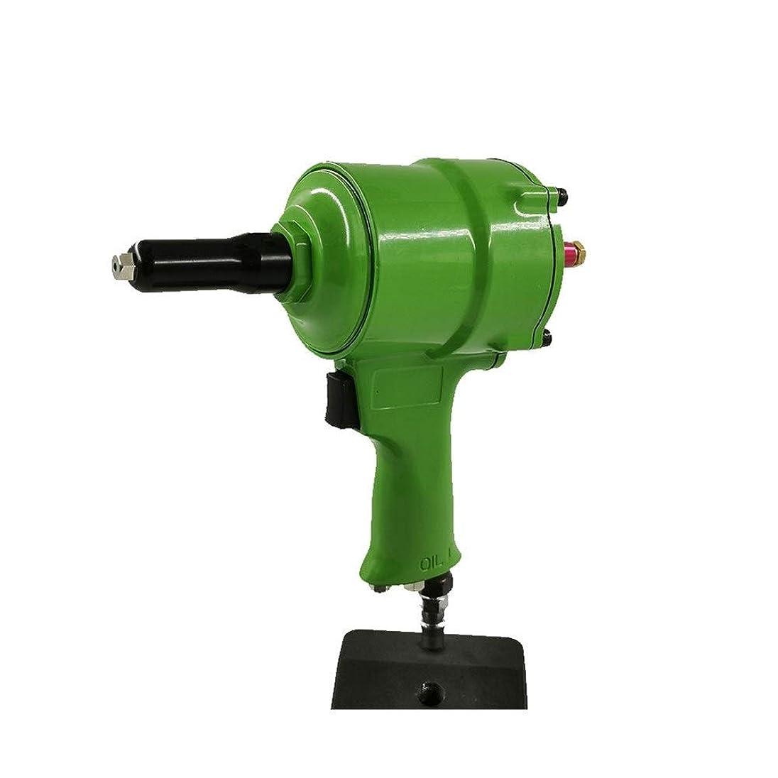 誇り悲観主義者積分エア工具 ハンドツール 自吸式エアガンタイプリベットガン、ネイルガン空気圧ツール工業用グレードハンドツール (Color : Green)