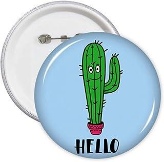 Hello Cactus Art Déco Cadeau Mode Pin's Badge Badge Emblème Accessoire Décoration 5pcs