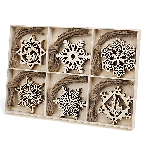 Wooden snowflake ornaments for crafting
