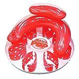 Poolmaster Water Pop Circular Swimming Pool Float Lounge, Red
