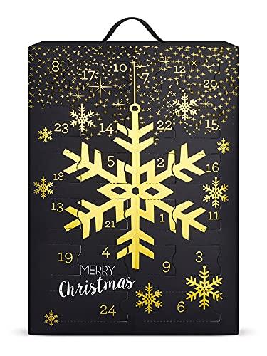 SIX Schmuck-Adventskalender mit Schneeflocken-Design