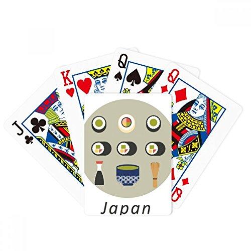 Juego de mesa de la diversión de la tarjeta mágica del póker del sushi de la comida local tradicional japonesa