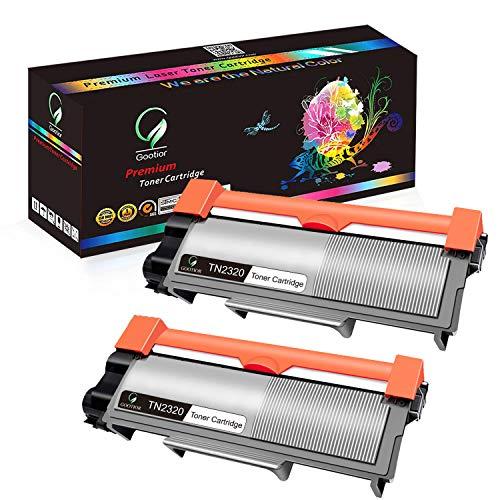 Gootior TN2320 TN-2320 Kit 2 Toner Alta Capacità Compatibili per Brother HL-L2300D HL-L2340DW HL-L2360DN HL-L2365DW DCP-L2500D DCP-L2520DW DCP-L2540DN DCP-L2560DW MFC-L2700DW MFC-L2720DW MFC-L2740DW