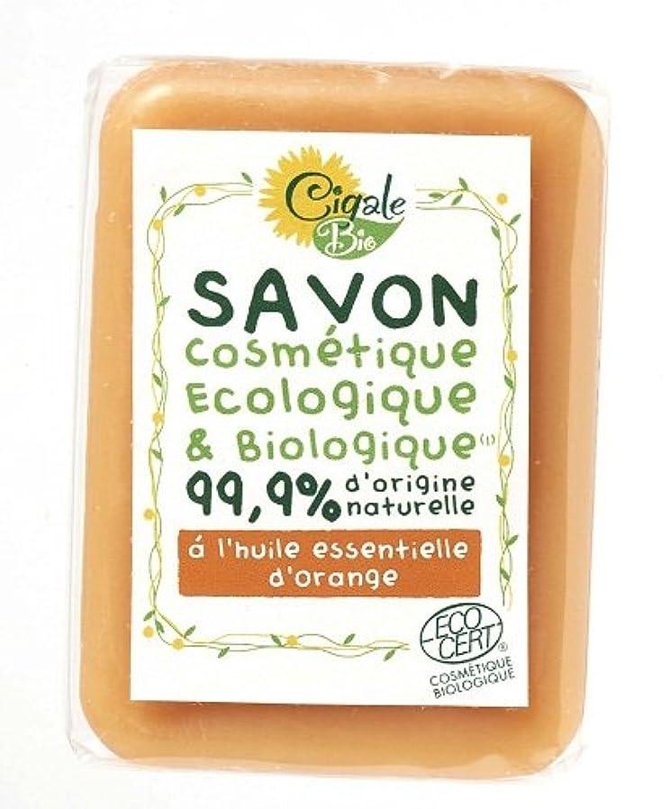 多分古くなった比類なきシガールビオ オーガニックソープ オレンジ