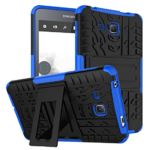 Maomi Samsung Galaxy Tab A 7.0 Case 2016 Release (SM-T280/T285),[Kickstand Feature],Shock-Absorption/High Impact Resistant Heavy Duty Armor Defender Case for Samsung Tab A 7 Inch Tablet (Blue)