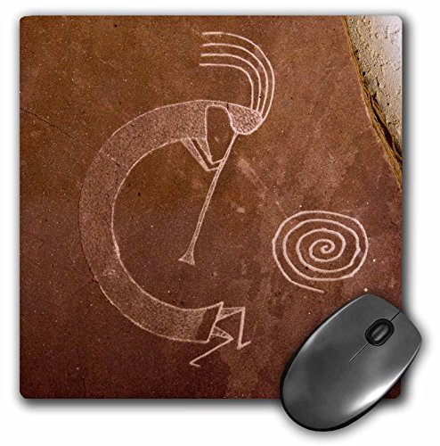 3dRose LLC 8 X 8 X 0.25 Inches Pictographs of the Pueblo Indians, Native American Angel Wynn Mouse Pad (mp_92520_1)