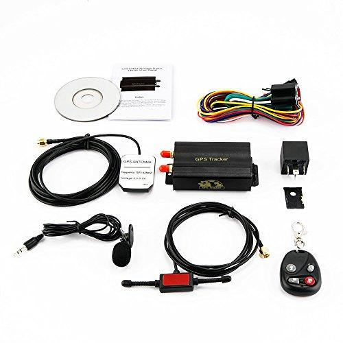 KKmoon Seguimiento de Vehiculos,GPS SMS GPRS Tracker Coche,Localizador en Tiempo,Localizador Gps Coche Tracker,Rastreador Localizador Gps | Trayectoria Histórica | SOS para Ayuda | Valla Electrónica