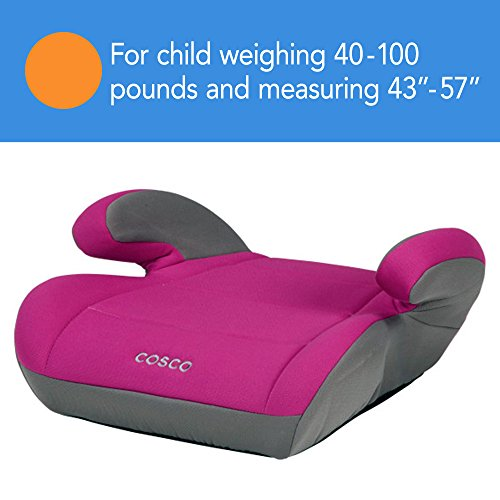 Cosco Topside Booster Car Seat - Easy to Move, Lightweight Design (Magenta)