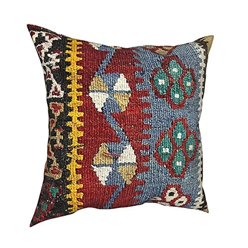 Funda de cojín decorativa vintage turco, tejido de poliéster, para sofá, divertido, 9,45 x 45 cm