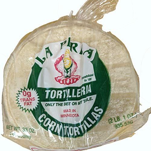 La Perla Fresh Corn Tortillas for Tacos and Tostadas (6' White Corn, 36 Count)