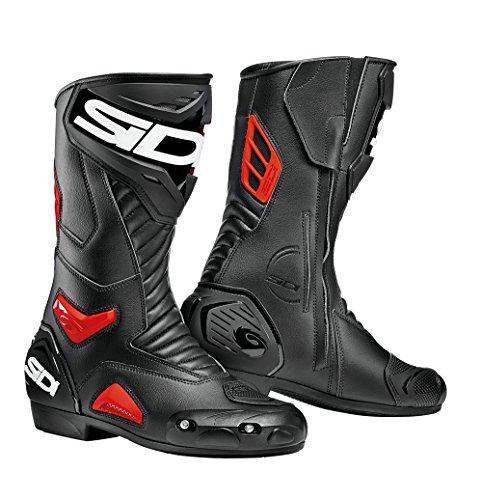 Sidi Botas Performer, color negro y rojo, talla 45