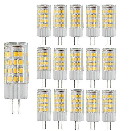 15 Paquetes Bombillas LED G4 Lampe de Maíz que Ahorra Energía 3000k Lámpara LED No Regulable,3W(Equivalente a 30W Halógena)Bombilla de Iluminación LED Blanca Cálida con Ángulo de haz de 360 °