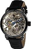 LOUIS XVI Versailles 335 - Reloj de pulsera unisex (correa de mano, automático, analógico, piel auténtica), color negro
