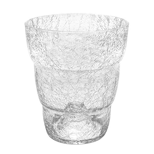 Portavaso in vetro serie ORCHID di Polnix, altezza 16 cm, colore: trasparente