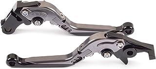 Tencasi Titanio Nuovo Lungo Rombo Cavo Regolabile Freni e Frizione Leve per Kawasaki Z900 Z650 2017-2018 NINJA 650R//ER-6F 2017 2018