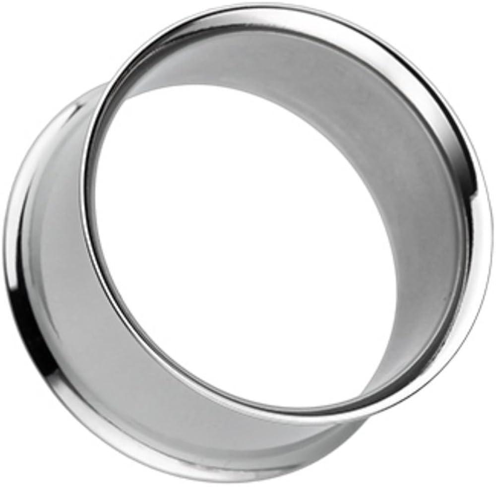 Covet Jewelry Basic Steel Double Flared Ear Gauge Tunnel Plug