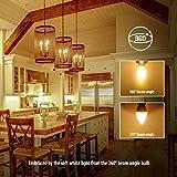 BIGHOUSE E14 LED Lampe, Kerzenform, 4W Ersetzt 35W Halogenlampen, 400 Lumen, 2700K Warmweiß, Filament Klar, 6 Stück - 6