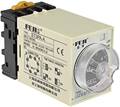 uxcell 24VAC/DC 5S 8 Terminals Range Adjustable Delay Timer Time Relay ST3PA-A with Base