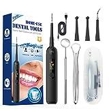 iFanze Anti Tartre Dentaire, Detartrage Dentaire Rechargeable, Blanchiment des dents, Tartre Dent avec Lumière LED & LED Écran, 5 Modes Réglables, Remplacement 4 Têtes