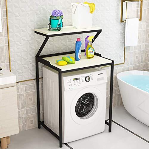 Badkamer Plank Over Wasmachine Opslag met Verstelbare Voet Pad 3 Lagen Boven De Opslag Rek voor Wasmachine Opslag Plank voor Shampoo, Toiletten jhfghbdfgsdfgsdgdfg/Zwart/E / 2