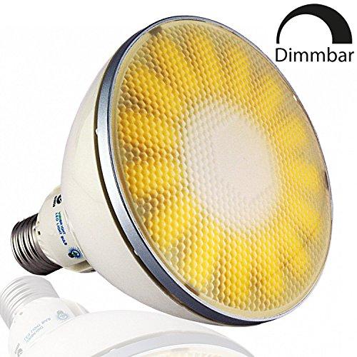 VIRIBRIGHT LED PAR38 Lampe Birne 73488 | 18W | CRI ≥ 80 RA | Warm-weiß 2800°K | 1100 Lumen | dimmbar | 90° < Winkel | statt 75W – 100W Leuchtmittel PAR 38 Reflektor Strahler 120mm ⌀ | E27 Fassung |