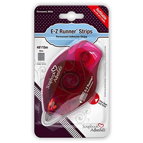 Toga Dévidoir rechargeable E-Z Runner Permanent, Autre, Blanc, 9 x 16 x 2.5 cm